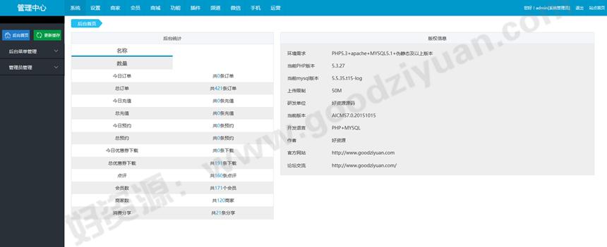 好资源:最新Baocms+Niucms整合完整版程序(活动营销+商城+生活o2o+微信+wap)